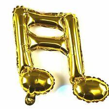 3x R26F7 not Helium ballon Folienballon Hochzeit Gold Noten Musiklehrer Geschenk