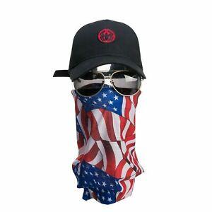 Headwear Face Tube Seamless Headband Bandana Mask Scarf - Multi Usa Flag - A2007