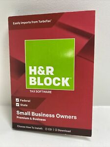 2018 Tax Year H&R Block Premium & Business Small Fed/State Windows - NEW Sealed