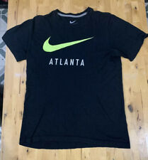 Nike Shirt Regular Fit Shirt Cotton Small Black Atlanta