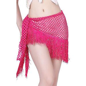 New 2021 Women Belly Dance Costumes Hip Scarf Wrap Belt Skirt Sequins Tassels