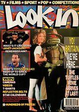 Look-In Magazine 24 November 1990   Janet Jackson  Teenage Mutant Ninja Turtles