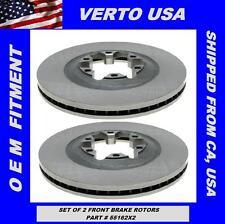 Verto USA Set Of 2 Front Brake Rotors, Chevrolet Colorado, GMC Canyon 2009-2012