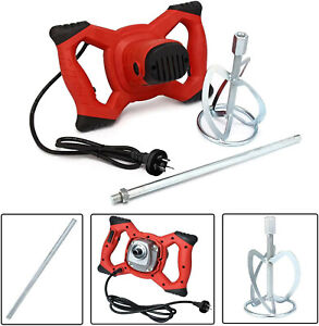 Paddle Mixer Electric Plaster Mortar Cement Paint Stirrer Plastering Whisk