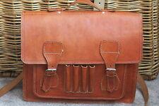 Vintage Cuero Mensajero Bolsa De X-cuerpo Unisex chestut marrón impresionante espectador nmcond