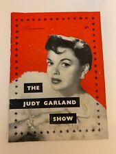 Judy Garland Vintage Original Dominion Theatre program/playbill 1957 Rare VG