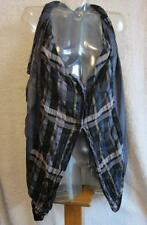 Issey Miyake Unique Cotton/Linen Plaid Oversized Draping Vest - Gorgeous - S (2)