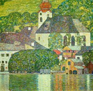 Gustav Klimt Full Drill Diamond Painting Kit Church at Unterach on Lake Atter