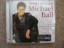 SONGS OF LOVE BY MICHAEL BALL MUSIC CD / ALBUM 16 TRACKS FEVER THE ROSE ETC ETC