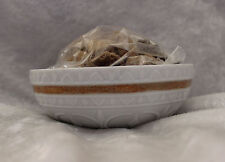 Lladro Scrolled White Bowl w/Gold Trim and Scented Stones-Small-Mint No Box