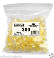 EFFICIENT Bulk Cigarette Filter Tips (300 Filters) Block, Filter Out Tar & Nic