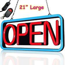 Large Led Open Sign Bright Neon Light For Restaurant Bar Pub Shop Store Business