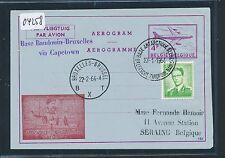 04258) Belgien GA Aerogramme Zudruck Belg.Antarktis Base  o 23.1.64, Exped.ship