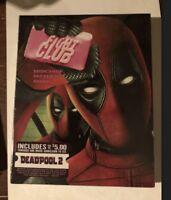Fight Club Blu-Ray - DEADPOOL Photobomb Walmart Exclusive & Movie Cash brand new