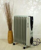 New Portable 7 Fin 1500w Electric Oil Filled Radiator Heater 3 Heat Settings