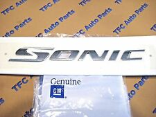 Chevrolet Sonic Rear Trunk Emblem Nameplate Chrome OEM New Genuine GM 2012-2015