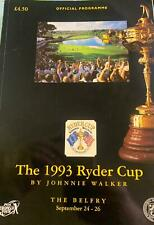 More details for p g a. / ryder cup 1993 official programme