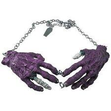 Kreepsville 666 Purple Zombie Hands Necklace Punk Goth Halloween Horror Charm