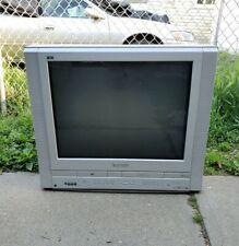 "Panasonic Pv-Df2704 27"" Crt Tv Dvd Vcr Combo Flat Screen Retro Gaming Television"