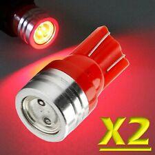 2 Pz LED T10 ROSSO SMD XENON Lampade Lampadine Per Targa e Posizione W5W TUNING