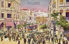 brazil, RIO DE JANEIRO, Rua da Assembleia, Trams (1920s)
