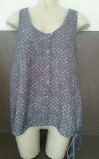 Influence Ladies Size 8 Grey Strappy Vest Top Zebra Print Summer Holiday Wear