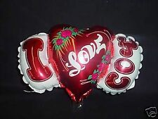 "11"" I Love You Shaped Mini Foil Balloon with cup and stick (MI16)"