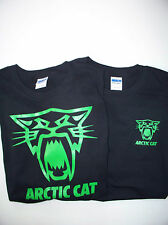 Two Arctic Cat Racing Screen Printed Black T-Shirts 6 oz. 100% Cotton Saber