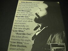 Duke Bootee lays down the law Bust Me Out 1984 Promo Display Ad mint condition