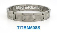 Cool - High power mens magnetic Titanium bracelet (5000 gauss magnets) Silver