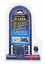 Extra Long Bike, Bicycle, Moped, Motorcycle U-lock / Lock w 2 Keys & Bracket