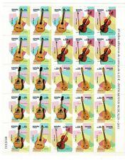 Pliego Instrumentos musical nº 4628/4631 25 sellos adhesivos España spain stamps