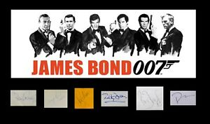JAMES BOND all six SEAN CONNERY signed DANIEL CRAIG, ROGER MOORE No Time To Die