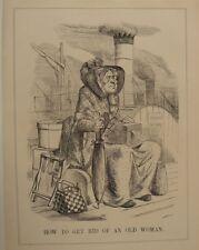 "7x10"" punch cartoon 1854 HOW TO GET RID OF AN OLD WOMAN aberdeen - nurses"