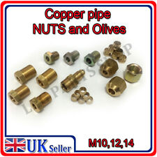 Brass Compression NUTS for gas pipe D6, D8, D10 with olives M10, M12, M14 thread