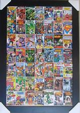 DC COMIC COVERS FRAMED POSTER