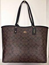 NWT Coach 36658 Reversible City Tote Signature PVC Handbag Brown / Black
