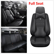 Luxury PU Leather 6D Surround Breathable Car Full Set Seat Cover Pad W/Headrest
