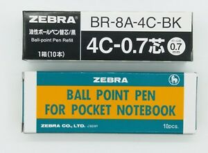 ZEBRA T-3 ball point pen (mini pen BLUE INK ) 10PCS + 10PCS BLACK INK REFILL(C)