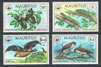 Mauritius Birds WWF Falcons Butterfly Bat Lizard Endangered Species 4v MNH