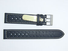 Di-modell Impermeable perforado 18 mm Negro reloj banda correa Rallye Wapro Beige