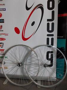 Coppia Ruote Alluminio Bici 26 X 1 3/8 SPORT ANT POST Mozzo Dadi Cambio 5 6 Vel