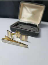 GENUINE CHRISTIAN DIOR CUFF LINK TIE PIN CLIP SET + BOXED