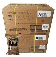 Military MRE 2018 ULTIMATE Case A and B Bundle 24 Meals Ready Eat Shelf NEW