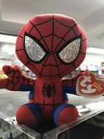 "Ty Beanie Babies Spiderman Mini Bean Bag 6"" Plush Stuffed Toy"
