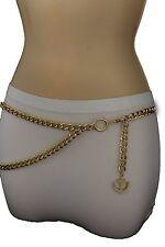 New Women Fashion Belt Hip High Waist Gold Metal Thick Chains Anchor Charm S M L