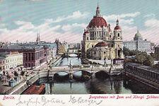 AK Berlin 1903 Burgstraße Dom Königliches Schloss Brücke
