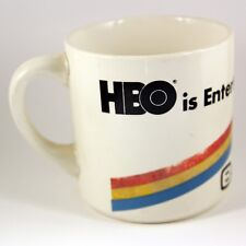 Vintage Old HBO Entertainment Greater Boston Cable TV Television Network Mug USA