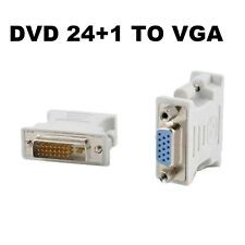 DVI-D (24+1) Male to VGA Female M/F Lead Adapter Connector For PC Mac
