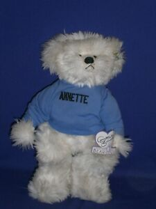 Vintage Annette Funicello Bear with ANNETTE Name Sweater 12 inch Circa 1990s
